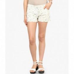 Vero Moda White Cotton Shorts