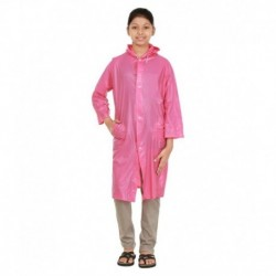 Rainfun Pink Waterproof Long Raincoat