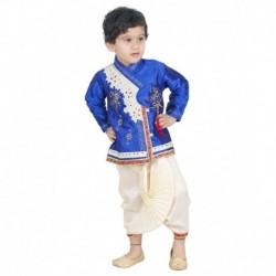 Jbn Creation Blue Dhoti Kurta For Boys