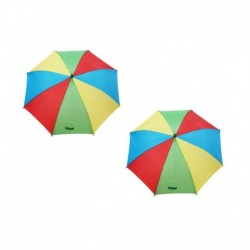 Modgen Multicolour Polyester One Fold Kids Umbrella - Set of 2 Pcs