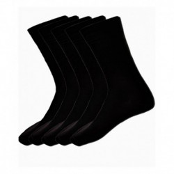 Alfa Fun Black School Socks - Pack of 5