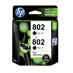 HP 802 Ink Cartridge Twin Pack - Black