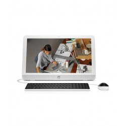 HP 20-E102IN AIO Desktop (T0R67AA) (Intel Pentium- 2GB RAM- 500GB HDD- 49.60 cm(19.53)- Windows 10) (Silver)