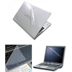 Finearts Laptop Skin 15.6 Inch - Transparent 3d Skin, Screen Guard And Keyboard Protector