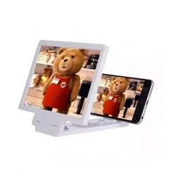 Latestzone 3d Glass Screen Enlarger for Mobiles And Tablets - White
