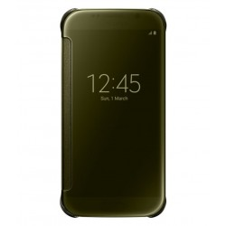 Samsung Clear View Cover For Samsung Galaxy S6 - Gold