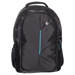 Black Polyester Backpack Manufactured For HP Laptops