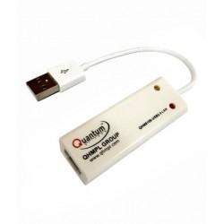 Quantum Usb To Lan 10/100mbs Ethernet Adapter, Lan Adapter, Usb To Lan Rj45