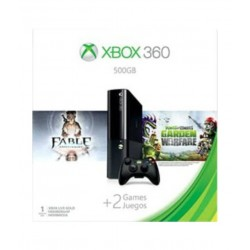 Microsoft Xbox 360 500 GB Gaming Console with Fable Anniversary and Plants vs Zombies: Garden Warfare DLC Code