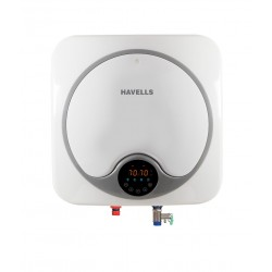 HAVELLS 15 Quatro Digital Geyser White Grey