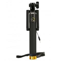 Pluto Plus Selfie Stick with Aux Cable - Black