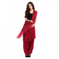 Pistaa Bright Maroon Patiala Salwar With Dupatta
