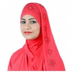 Alizia Enterprise Peach Cotton Stitched Hijabs