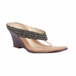 Catwalk Black Heeled Slip-Ons