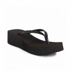 Shoe Lab Black Laces Flat Slip-ons