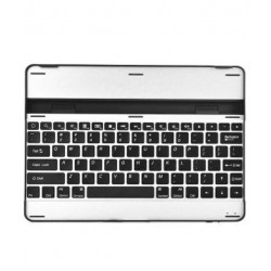 Microsys Wireless Bluetooth Keyboard Stand Hard Plastic Slim Case Cover For Apple iPad 2/3/4 Silver