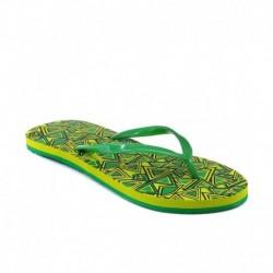 Franco Leone Green Women Flip Flops