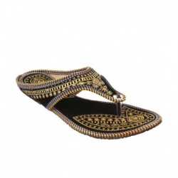 Fans Footcraft Black Ethnic Footwear
