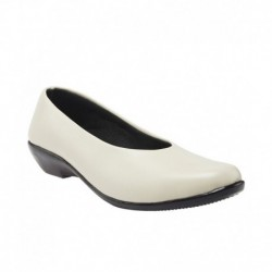 Selfie White Flat Formal Shoes