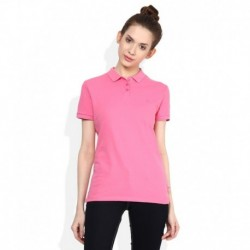 United Colors of Benetton Pink Solid Polo T-Shirt