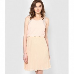 Vero Moda Peach Puff Casual Skater Dress