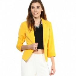 Vero Moda Yellow Regular Collar Blazer