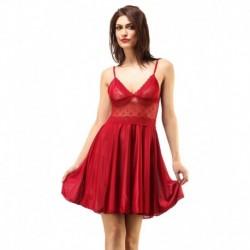 Boosah Red Satin Babydoll Dress