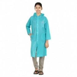 Rainfun Blue Polyester Short Raincoat