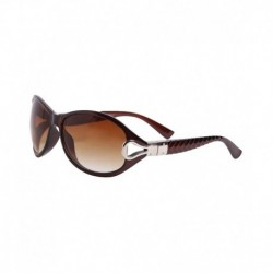 HH CLASICBRWN Brown Oval Sunglasses For Women