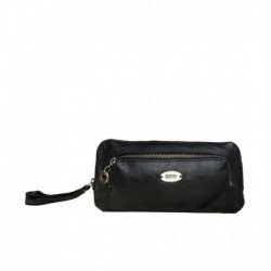 Hidesign IRIS 01 Black Leather Clutch