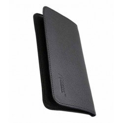 Ncase Black Leather Pouches For Micromax Canvas Spark