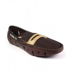 Globalite Brown Meshtextile Slip-on Casual Shoes