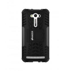 Amzer Hybrid Warrior Case - Black/ Black for Asus Zenfone 2 Laser ZE550KL