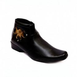 Skylark Black Synthetic Leather Lace Men Boots