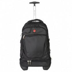 Sonada Black 2 Wheel Trolley Backpack