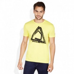 Being Human Yellow Round Neck Printed T-Shirt
