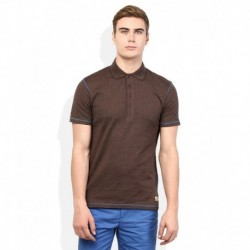 United Colors of Benetton Brown Solid Polo T Shirt