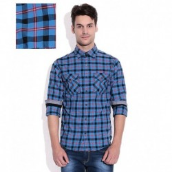 Mufti Blue Plaid Shirt