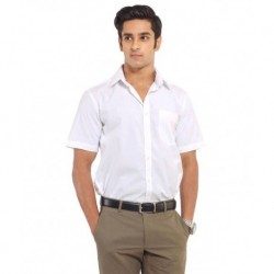 Venga White Cotton Regular Fit Casual Shirt
