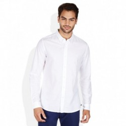 United Colors Of Benetton White Slim Fit Linen Blend Shirt