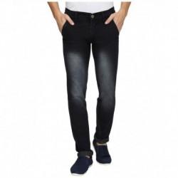 Wajbee Black Slim Fit Jeans