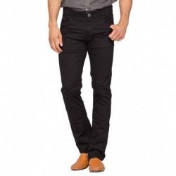 Spykar Black Slim Fit Trousers