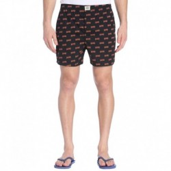Jack & Jones Black & Orange Printed Boxers