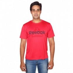 Reebok Mstaff Red Nylon Running T Shirt
