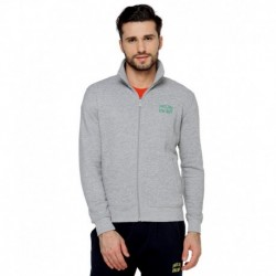 Proline Grey Solid Zippered Sweatshirt