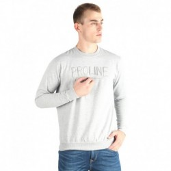 Proline Grey Solid Sweatshirt