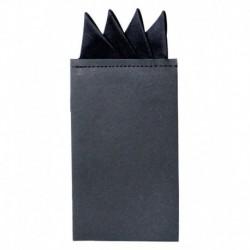 Classique Black Microfiber pocket square