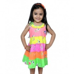 lkari Multi Color Layer Frock For Infant Girls
