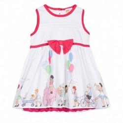 612 League White Printed Dress