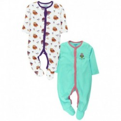 Snuggles Multicolor Sleepsuit - Pack Of 2